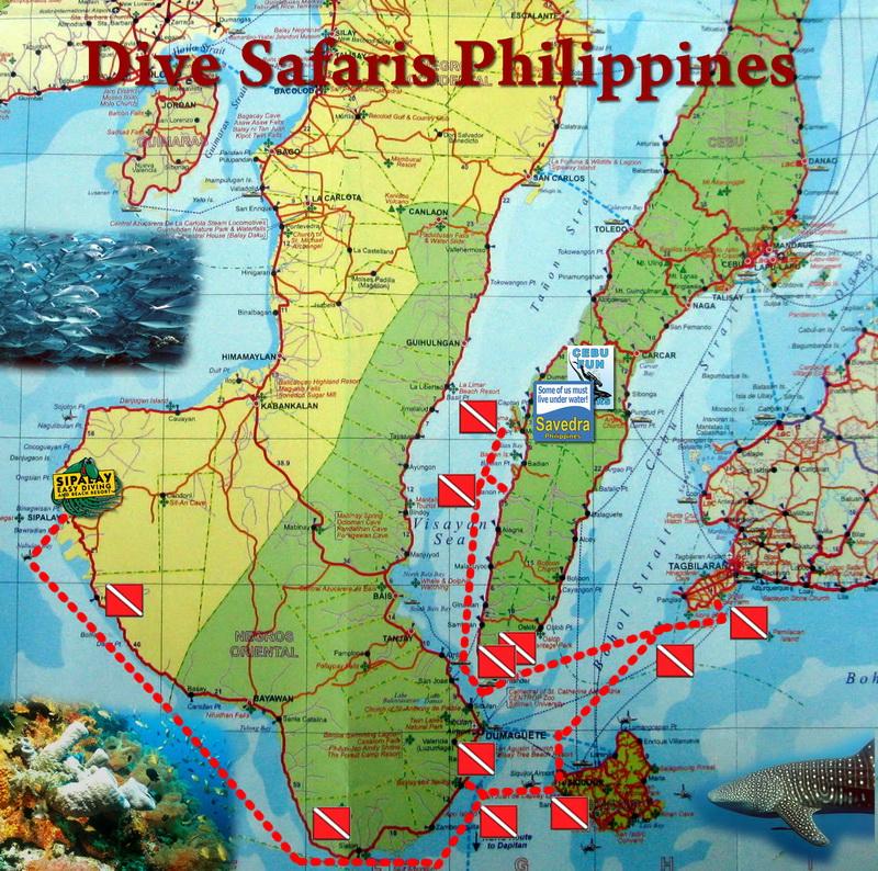 Route der Tauchsafari Philippinen